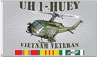 Vietnam Veteran Yard Flag with Service Ribbon and UH-1 Huey Graphics