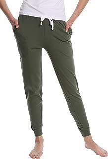 Women's Cotton Jogger Pajama Pants - Ladies Lounge & Sleepwear PJ Bottoms