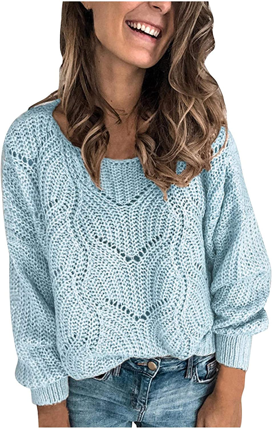 Sweater for Women,Wamajoly Women's Turtleneck Oversized Batwing Sleeve Loose Chunky Knitted Pullover Sweater Jumper Tops