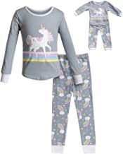 Dollie & Me Girls' Apparel Snug Fit Sleepwear Set and Matching Doll Outfit