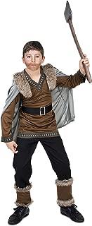 Viking Warrior Costume - Halloween Boy's Barbarian Medieval Fighter