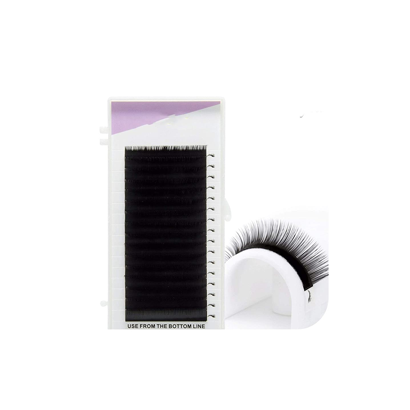 1 case eyelash extension mink,individual eyelash extension,natural eyelashes,false eyelashes,C,0.15mm,10mm
