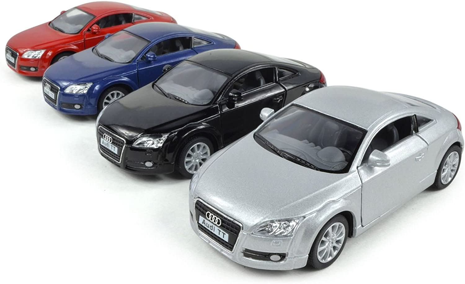 Kinsmart Set Of 4  5  2008 Audi Tt Coupe 1 32 Scale (Black bluee Red Silver)