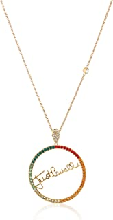 Just logo Evo Full Yellow Gold Color Necklace with Colored Stones - JCNL00740400