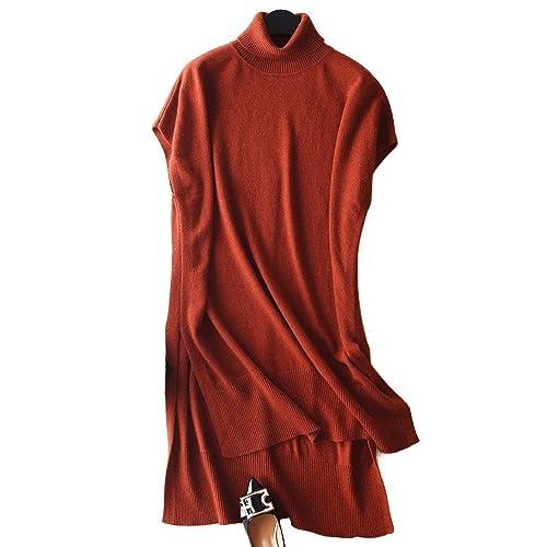 697d183e02573 Winter Dress Sweater Dress Cashmere Dress Turtleneck Cashmere midi Dress  with Big Hem