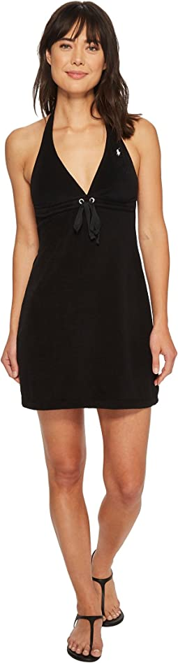 Iconic Terry Grommet Halter Dress Cover-Up