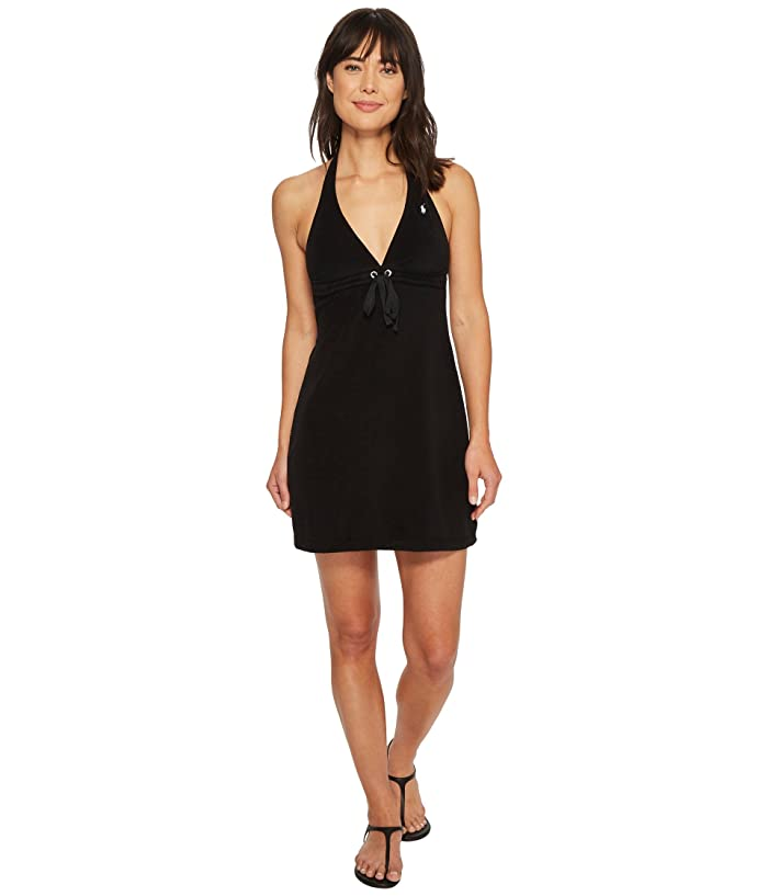 5fa7460714 Polo Ralph Lauren Iconic Terry Grommet Halter Dress Cover-Up at ...