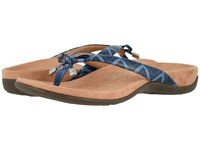 VIONIC  Bella II (Navy Chevron) Womens Sandals