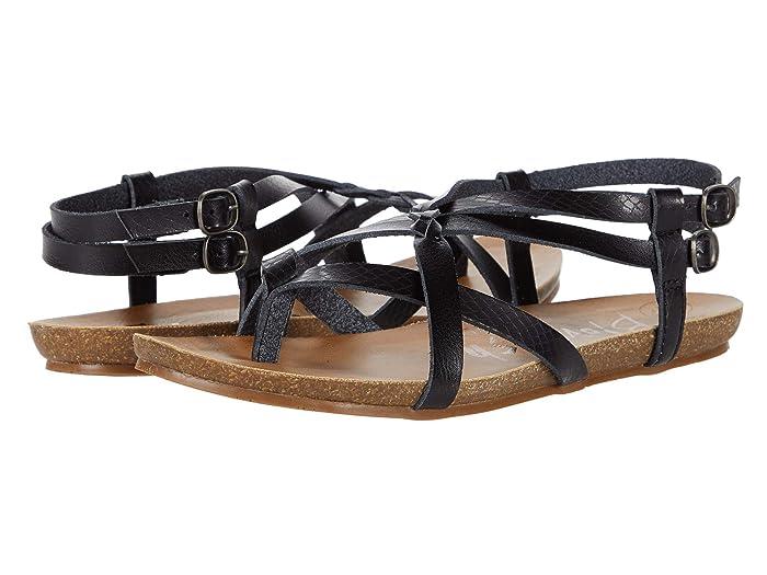 Blowfish  Gineh (Black Exotic Die Cut) Womens Sandals