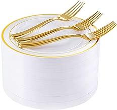 72 Pieces Gold Dessert Plates 7.5