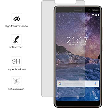 Tumundosmartphone Protector Cristal Templado para Nokia 5: Amazon ...