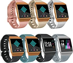 Tobfit Bright Designed Bands Compatible with Ionic Bands, Soft TPU Sport Arm Wristband Accessories for Women Men
