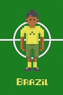 Brazil Soccer Pixel Art National Team Sports Cool Huge Large Giant Poster Art 36x54