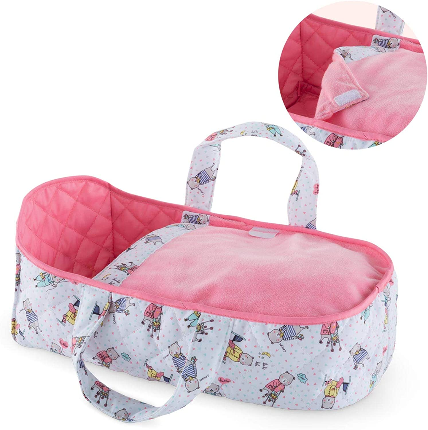 Cgoldlle Mon Premier Poupon Carry Bed Toy Baby Doll Toy, Pink