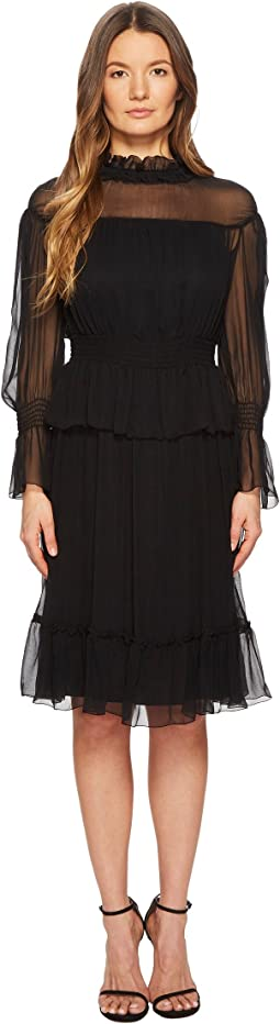 See by Chloe - Silk Crepon Dress with Ruffles