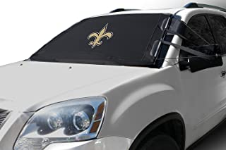 Frostguard NFL Premium Winter Windshield Cover for Ice and Snow, New Orleans Saints | Standard Size Car Windshield Cover, Black | Fits Most Cars, Sedans, Small Trucks, SUVs – 60 x 40 Inches