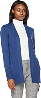DEEBAI Women's Elegant Long Sleeve Open Front Knit Sweater Lightweight Pockets Cardigan