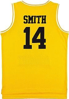 OKnown Mens Jerseys #14 Basketball Jersey Green/Yellow/Black