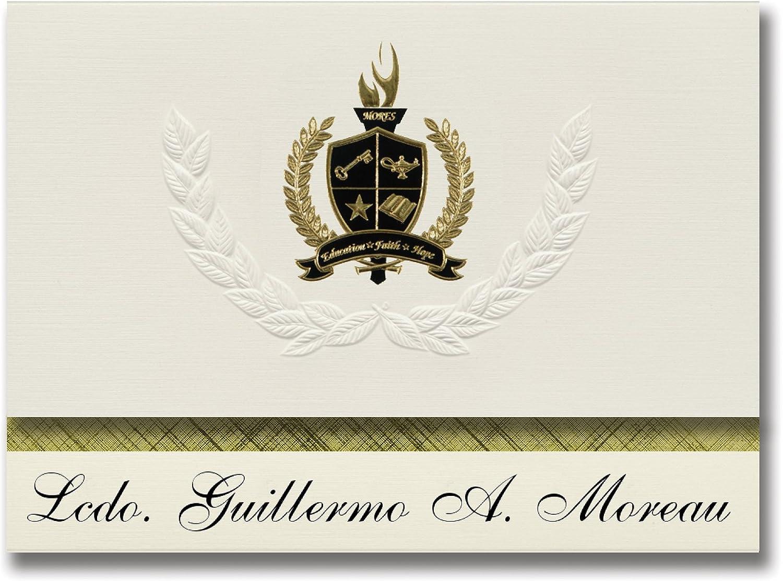 Signature Ankündigungen lcdo. Guillermo A. Moreau (San Juan, PR) Graduation Ankündigungen, Presidential Stil, Elite Paket 25 Stück mit Gold & Schwarz Metallic Folie Dichtung B078VDDHZZ   | Schnelle Lieferung