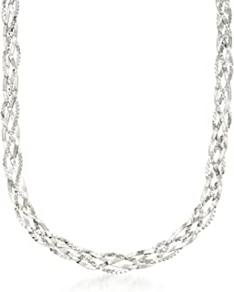 Ross-Simons Italian Sterling Silver Braided Chain Necklace
