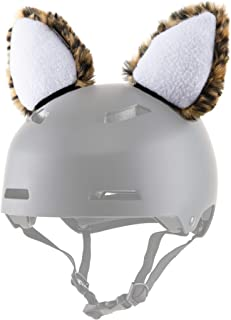 ParaWild Leopard Helmet Accessories w/Sticky Hook & Loop Fastener Adhesive (Helmet not Included), HELMET CAT EARS/Covers for Snowboarding, Skiing, Biking, Cycling, Skating for Kids and Adults