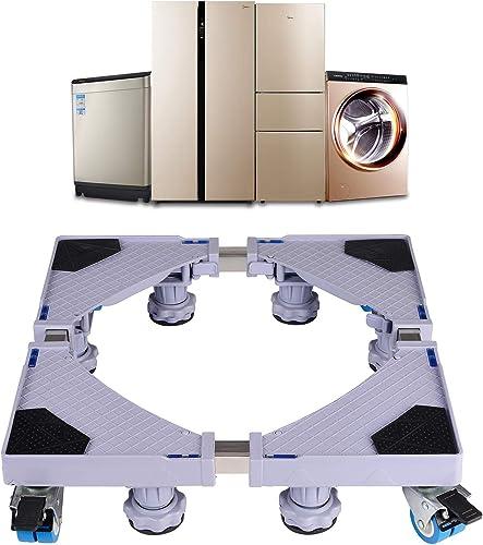 Base de Machine à Laver Réglable 45cm-70cm Support Charge 300 kg Réduction du Bruit Effet Avec pour Réfrigérateur/Mac...