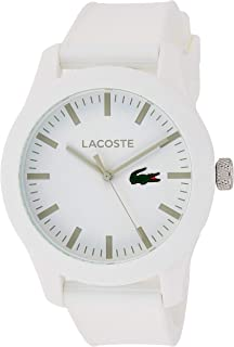Lacoste 12.12 Analog Display Japanese Quartz Watch with Textured Silicone Band