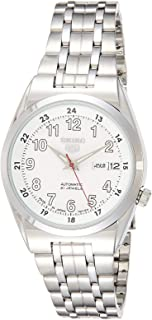 Seiko 5 Men's White Dial Stainless Steel Automatic Watch - SNK579J1