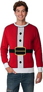 New Camp Ltd New Unisex Mens Womens Jumper Christmas Xmas Novelty Retro Fairisle Santa Party Sweater Jumpers RED Santa Sui...
