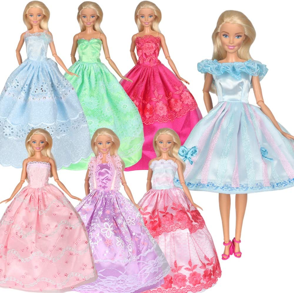 Tanosy 6 Cheap mail order sales PCS Doll Some reservation Clothes Party Dresses f Handmade Gowns