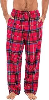 Men's Lightweight Flannel Pajama Pants, Long Cotton Pj...