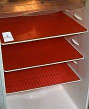 Kuber Industries™ Refrigerator Drawer Mat/Fridge Mat/Multipurpose Mat Set of 6 Pcs (13 * 19 inches) (Red) Code
