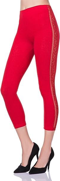 LPL34 FUTURO FASHION/® avec dentelle pour la danse Legging court en coton