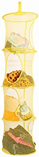 Wei Long Foldable Mesh Storge Bag, Hanging Sweater Dryer, 4 Tier Drying Surface, Round Storage Bag (Yellow)
