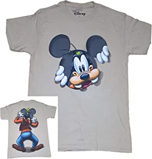 Disney Goofy Peeking Adult Fashion Top T Shirt - Khaki