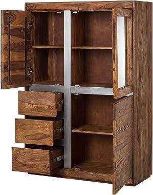 Shilpi Handicrafts Sheesham Wood Cabinet/Almira/Storage Unit (Without Handles)