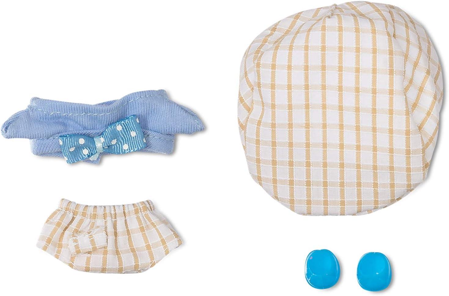 Distroller Neonate Micro Nerlie Mikromerito - Ropa para niño, diseño de cuadros azules con sombrero y zapatos, exclusivo de México