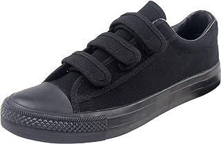 wealsex Basket Basse Toile Scratch Sneakers Chaussure Tennis Sport Confort Femme Grande Taille 40 41 42 43