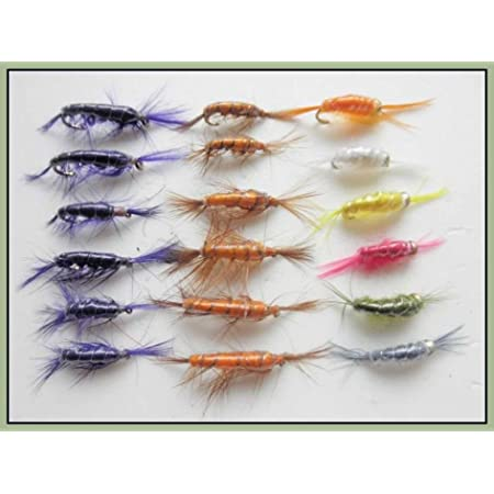 mixed pack sizes 10//12 Sinking Trout Flies 18 Goldhead Buzzers Trout Flies