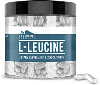 L-Leucine, 200 Capsules, 1400 mg Servings, Essential Amino Acid, Pure & Potent, Non-GMO and Gluten-Free, Lab-Tested Purity...