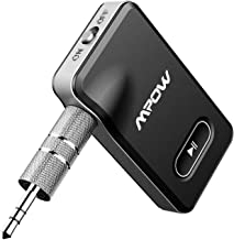Mpow  Bluetooth Receiver, Car Bluetooth Receiver with Hands-free Call 12 Hours Wireless Music CVC 6.0 noise-canceling, 3.5mm Bluetooth Receiver for Car/Home Stereo