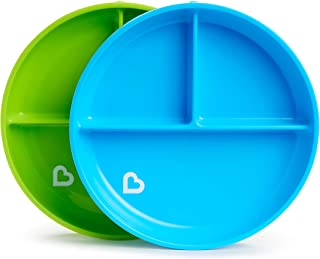 Munchkin Stay Put Divided Suction Plates, Blue/Green