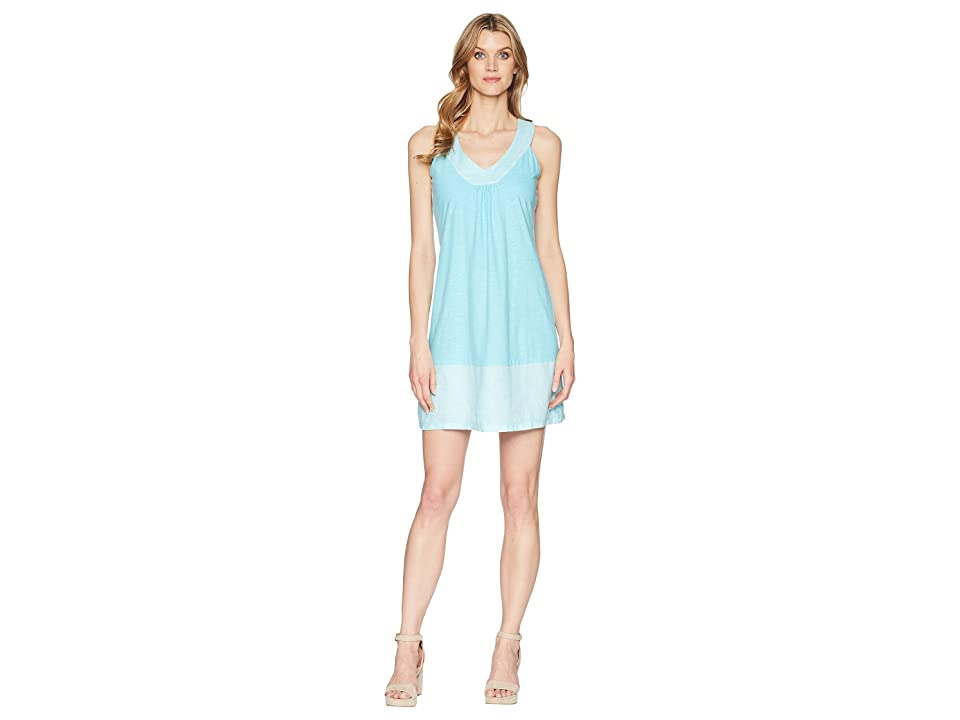 Tommy Bahama Arden Sleeveless Flounce Dress (Blue Radiance) Women