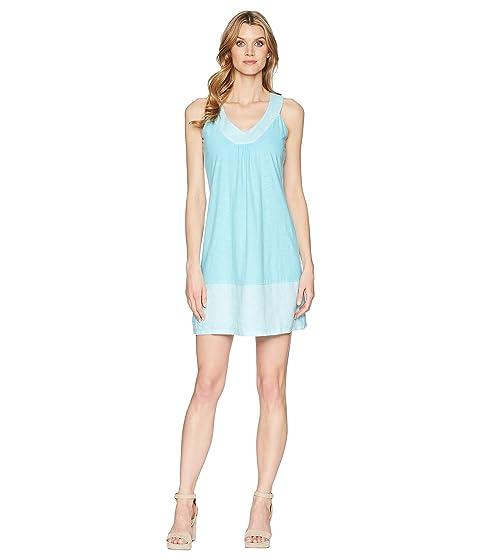 Arden Sleeveless Flounce Dress, Blue Radiance