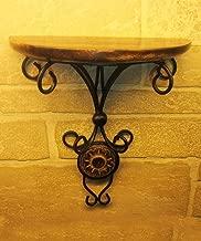 Pindia Beautiful Wood & Wrought Iron Fancy Wall Bracket