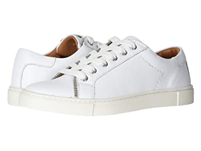 FRYE AND CO. Sindy Moto Low (White Smooth Polished Leather) Women