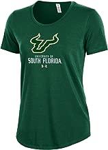 Under Armour NCAA South Florida Bulls Women's Short Sleeve Charged Cotton Tee, Medium, Dark Green