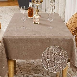 Balcony&Falcon Nappe de Table Décorationde Table de la Fête Nappe Effet Lin Rectangulaire Nappe Imperméable et Anti Tache...