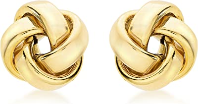 Carissima Gold 9 ct Yellow Gold 11 mm Knot Stud Earrings