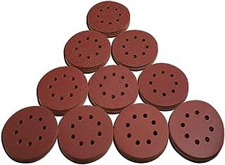 FLMQA Carta abrasiva 12 PCS Cuscinetto per sfogliatura floccaggio multiuso da 5 pollici rotondo 240-1500 grana Panno di nylon resistente industriale per lucidatura Grinding-1000